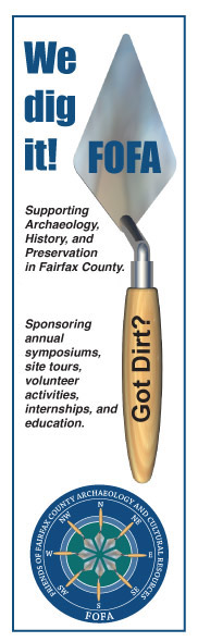 Friends of Fairfax                   County Archaeology and Cultural Resources